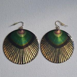 Statement Peacock Earrings